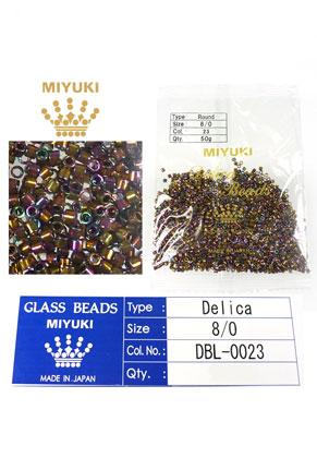 www.snowfall-beads.com - Miyuki Delica Beads glass seed beads 8/0 3x2,7mm DBL-0023 (1500 pcs.)