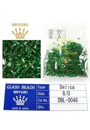 www.snowfall-beads.com - Miyuki Delica Beads glass seed beads 8/0 3x2,7mm DBL-0046 (1500 pcs.)