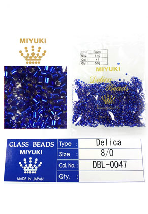 www.snowfall-beads.com - Miyuki Delica Beads glass seed beads 8/0 3x2,7mm DBL-0047 (1500 pcs.)