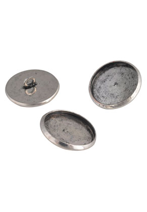 www.snowfall-beads.com - Metal buttons 16mm with setting for 14mm flat back