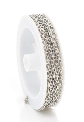 www.snowfall-beads.de - Metall Kette mit 4,5x3mm Glieder (5 meter pro Rolle)