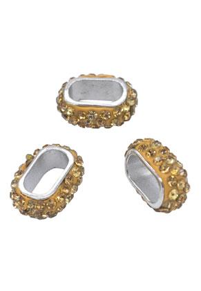 www.snowfall-beads.com - Strass slide-beads 18x14mm (hole 12x6,5mm)