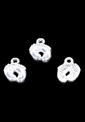 www.snowfall-beads.nl - Metalen hangers/bedels voetjes 14x10mm