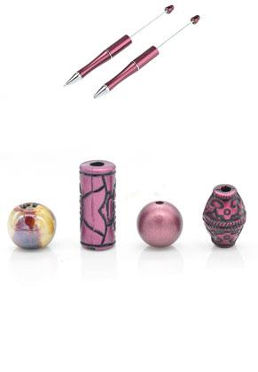 www.snowfall-beads.be - Mix keramiek/kunststof kralen 10-25mm