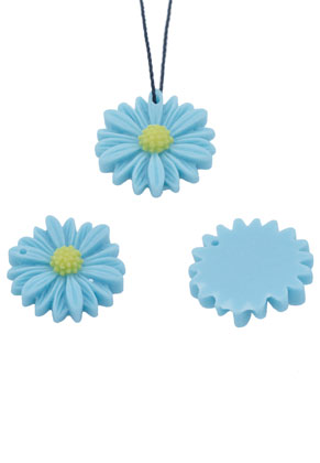 www.snowfall-beads.com - Synthetic pendants/flat backs flower 13mm
