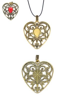 www.snowfall-beads.nl - Metalen hangers hartje 69x52mm met kastje voor 18x13mm plaksteen