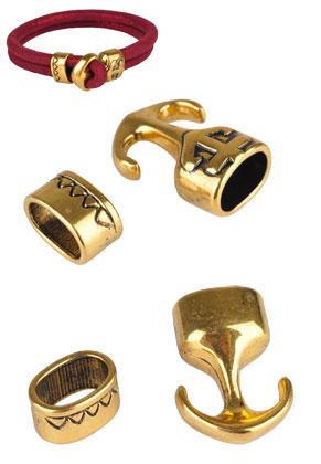 www.snowfall-beads.com - Metal clasps anchor 23x17mm