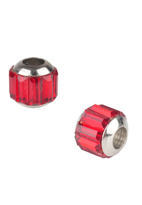 www.snowfall-beads.nl - Groot-gat-style metalen kralen met strass 12x10mm