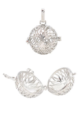 www.snowfall-beads.fr - Pendentif en métal, appel aux anges/Prayer Box 36x28mm