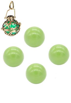 www.snowfall-beads.com - Metal chime ball round 16mm