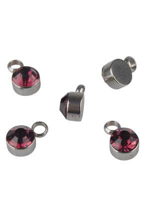 www.snowfall-beads.be - Roestvrijstalen hangers/bedels met strass 8x5mm