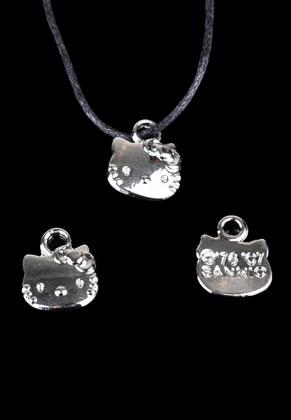 www.snowfall-beads.fr - Pendentifs/breloques en métal chat 13x11mm