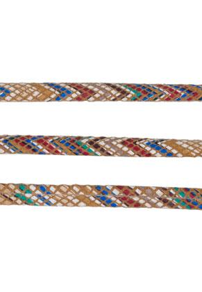 www.snowfall-beads.com - Imitation leather cord 200cm, 5,5x2mm thick