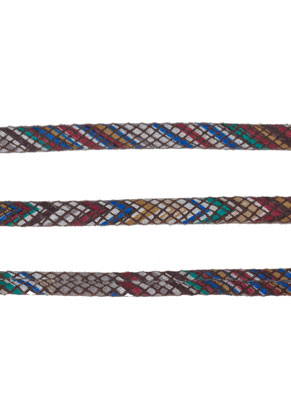 www.snowfall-beads.com - Imitation leather cord 200cm, 5,5x2mm thick