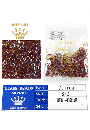 www.snowfall-beads.com - Miyuki Delica Beads glass seed beads 8/0 3x2,7mm DBL-0088 (1500 pcs.)