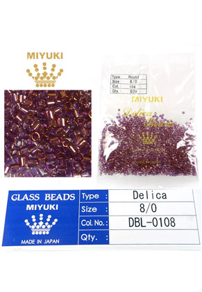 www.snowfall-beads.com - Miyuki Delica Beads glass seed beads 8/0 3x2,7mm DBL-0108 (1500 pcs.)