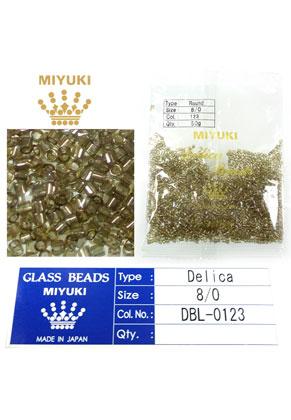 www.snowfall-beads.com - Miyuki Delica Beads glass seed beads 8/0 3x2,7mm DBL-0123 (1500 pcs.)