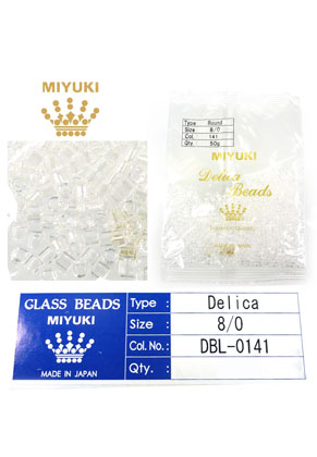 www.snowfall-beads.com - Miyuki Delica Beads glass seed beads 8/0 3x2,7mm DBL-0141 (1500 pcs.)