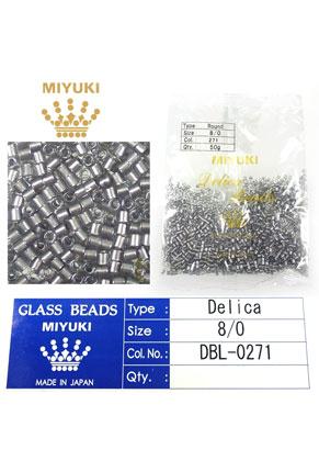 www.snowfall-beads.com - Miyuki Delica Beads glass seed beads 8/0 3x2,7mm DBL-0271 (1500 pcs.)