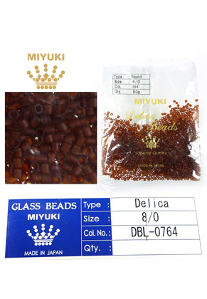 www.snowfall-beads.com - Miyuki Delica Beads glass seed beads 8/0 3x2,7mm DBL-0764 (1500 pcs.)
