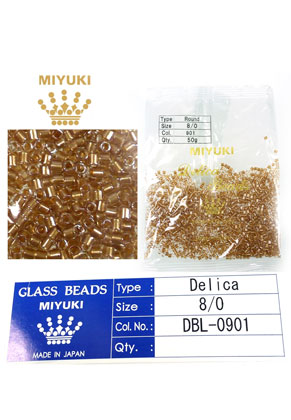 www.snowfall-beads.com - Miyuki Delica Beads glass seed beads 8/0 3x2,7mm DBL-0901 (1500 pcs.)