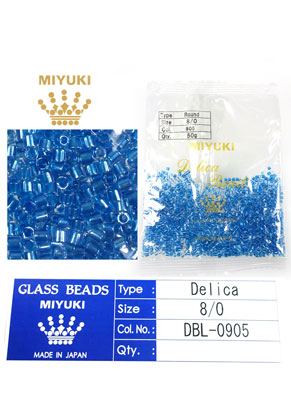 www.snowfall-beads.com - Miyuki Delica Beads glass seed beads 8/0 3x2,7mm DBL-0905 (1500 pcs.)