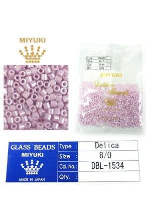 www.snowfall-beads.fr - Miyuki Delica Beads rocailles en verre 8/0 3x2,7mm DBL-1534 (1500 pcs.)