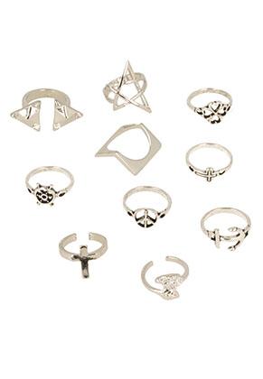 www.snowfall-beads.com - Mix metal fingerrings