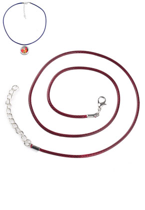 www.snowfall-beads.com - Wax cord necklaces with metal clasp 51cm, 2mm thick