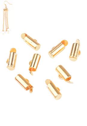 www.snowfall-beads.co.uk - Metal slide end tube caps 9x6mm