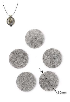 www.snowfall-beads.nl - Vilten Doublebeads EasySwitch schijven/parfumkussentjes rond 30mm