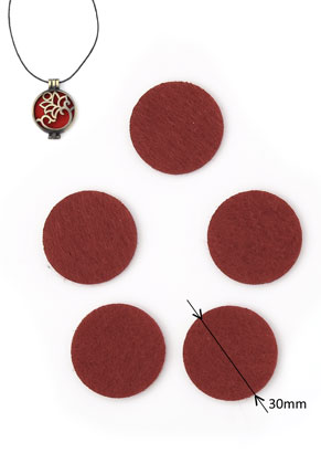 www.snowfall-beads.com - Felt Doublebeads EasySwitch discs/perfume pads round 30mm
