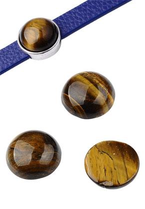 www.snowfall-beads.fr - Cabochons en pierre naturelle circulaire Tiger Eye 15mm