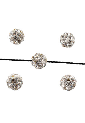 www.snowfall-beads.be - Strass kralen rond 6mm