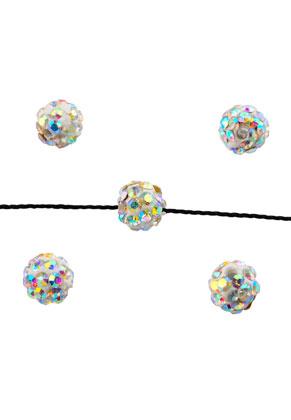 www.snowfall-beads.nl - Strass kralen rond 6mm