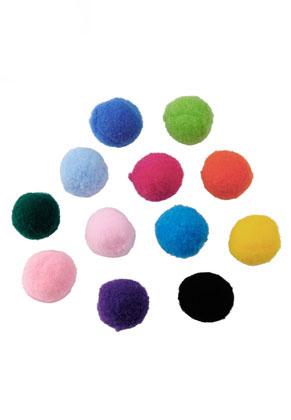 www.snowfall-beads.com - Mix textile pompoms 20mm