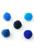 www.snowfall-beads.com - Mix textile pompoms 15mm