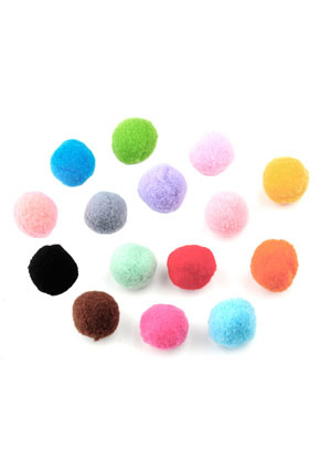 www.snowfall-beads.com - Mix textile pompoms 15mm