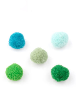 www.snowfall-beads.com - Mix textile pompoms 10mm