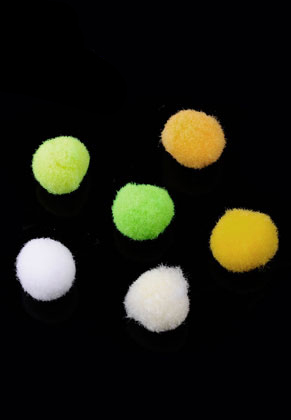 www.snowfall-beads.com - Mix textile pompoms 10mm