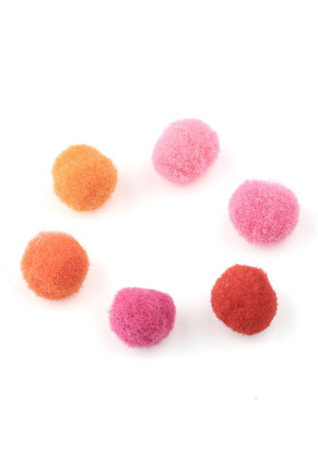 www.snowfall-beads.de - Mix Stoff Pompons 10mm