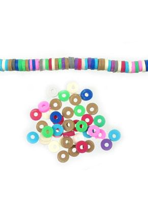 www.snowfall-beads.com - Mix polymer clay heishi beads 4mm (420 pcs.)