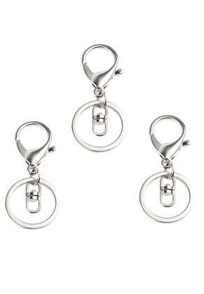 www.snowfall-beads.com - Metal key fobs with ring 70x30mm