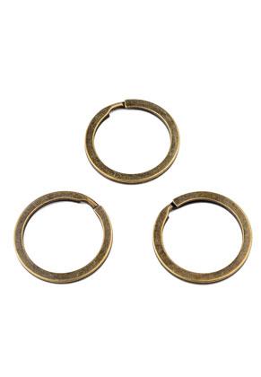www.snowfall-beads.com - Metal key fob rings 32mm