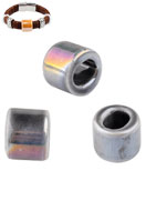 www.snowfall-beads.com - Large-hole-style ceramic beads cylinder 17x14mm - D22183