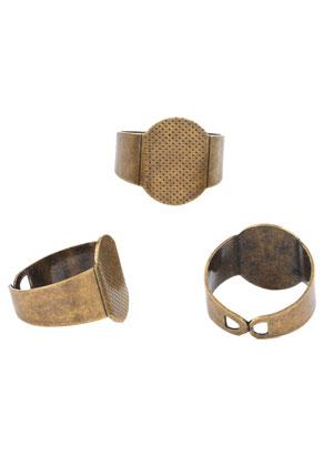 www.snowfall-beads.de - Metall Ringe >= Ø 17,5mm mit Fassung für 16mm und 16x12mm Klebstein