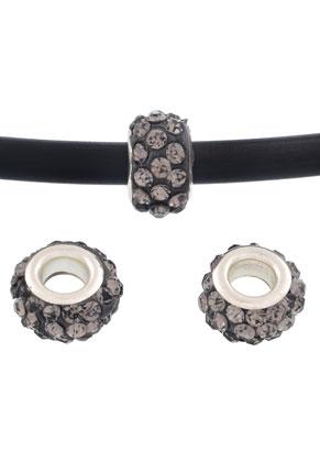 www.snowfall-beads.fr - Style grand-trou perles en strass rondelle 13x7mm