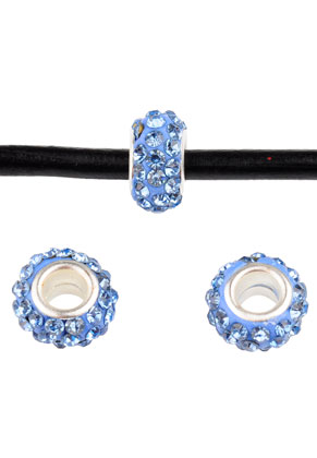 www.snowfall-beads.co.uk - Large-hole-style strass spacer beads 13x7mm