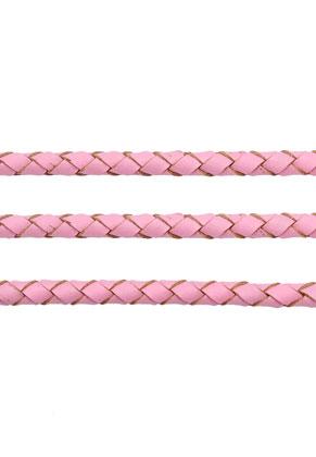 www.snowfall-beads.de - Lederschnur geflochten 100cm, 4mm dick
