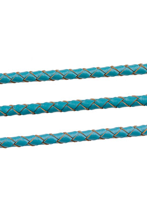 www.snowfall-beads.com - Leather cord braided 100cm, 4mm thick